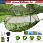 Double Outdoor Parachute Nylon Hammock Portable 600lbs Load with Mosquito Net