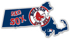 Massachusetts Boston Red Sox LOGO Vinyl Sticker Decal Cornhole Truck Car Bumper on Ebay