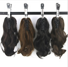 """Wavy Human Hair Ponytail 100% Human Hair Claw Clip On Ponytail Extension 15""""-24"""""""