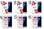 INITIALS PERSONALISED FLOWERS CUSTOM NAME PHONE CASE COVER FOR SAMSUNG GALAXY