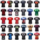 Superhero Superman Marvel 3D Print GYM T-shirt Men Fitness Tee Compression Tops image