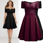 Women's A-Line Off the Shoulder Lace Dress, with Lace Top/Pleated Skirt $12.99 USD on eBay