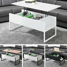 Coffee Table Folding Writing Desk Lift Up Top With Storage Home Office Furniture