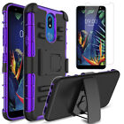 For LG Xpression Plus 2 Belt Clip Case Shockproof Stand Cover + Screen Protector