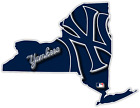 NY New York State Yankees Baseball LOGO Vinyl Sticker Decal Car Bumper Wall on Ebay