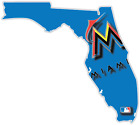 Miami Florida Marlins Baseball Fan Vinyl Sticker Decal Bumper Window Truck Car on Ebay