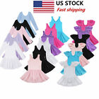 Kyпить US Girls Gymnastics Ballet Dress Kids Leotard Tutu Skirt Dance Ballerina Costume на еВаy.соm