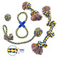 MAS - Dog Rope Toy, 5pc Set, EXTRA THICK Durable Quality, 100% NATURAL COTTON,