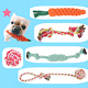 BUYGOO Dog Rope Toy Set for Small Middle Dog - Durable Puppy Chew Rope Toy - Pu