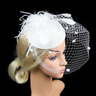 Womens Sinamay Fascinator Cocktail Party Hat Wedding Church Kentucky Derby