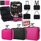 Large Beauty Case Professional Cosmetic Makeup Vanity Nail Storage Box Travel UK