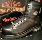 Harley-Davidson Men's Side Zip Safety Toe EH Motorcycle Boots Work Shoes D93480 $79.99 USD on eBay