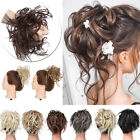 100% REAL Messy Bun Scrunchie Hair Extension Ponytail As Human Hair Piece Blonde