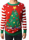 Ugly Christmas Sweater Teen Boy's Christmas Tree LED Light Up Sweater