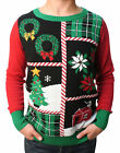 Ugly Christmas Sweater Teen Boy's Christmas Collage LED Light Up Sweater