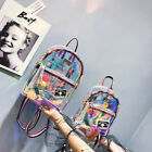 Hot! Womens children's Clear Transparent Backpack Jelly Bags Laser Rucksack image