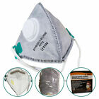 FFP3 Mask Dust Face Masks Fold Flat Valved Asbestos Respirator Disposable DIY