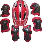 Boys Girls Kids Safety Helmet & Knee & Elbow Pad Set For Cycling Skate Bike UK