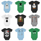 Cute Easy Halloween Costume Shark Monster Penguin Pirate Skeleton Baby Bodysuit