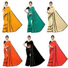 Sari Designer Indian Ethnic Georgette Party Wear Ruffle Saree Wedding Bridal SC