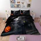 Halloween-Duvet-Cover-Set-with-Pillow-Case-Shams-Happy-Ghost-Print-Bedding-Decor
