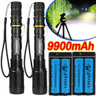 Tactical Police 350000Lumens 5 Modes 18650 T6 LED Flashlight Aluminum Zoom Torch