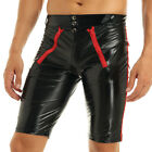 Sexy Men Patent Leather Lingerie Leg Tights Wetlook Boxer Shorts Pants Underwear