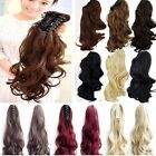 Long Claw Ponytail Hair Piece Extension Straight Wavy Brown Blonde Ginger Red