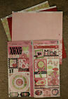 Bo Bunny 12x12 Scrapbook Paper Sweetie Pie Sigh Squeeze XOXO Sticker 2 sheets
