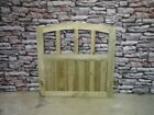 Wooden Garden Gate, Dome Slatted Gate,side Gate,bespoke Press Treated Gates