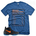 "New Royal ""SUCCESS FACTS"" T Shirt for Nike Foamposite Knicks Orange Blue Black image"