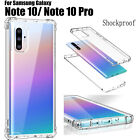For Samsung Galaxy Note 10 Plus Slim Transparent Clear 360 Shockproof Case Cover