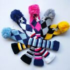 1pc Knitted Pom Pom Headcover Golf Club Head Cover Knit head cover for Hybrid