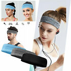 LOT Men Women Sport Headband Moisture Wicking NonSlip Wide Fitness Sweatband US