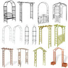 Wooden Metal Garden Arch Gate Arbour Rose Pergola Archway Patio Climbing Plant