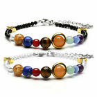 Galaxy Gemstone Nine Planets Beads Faceted Glass Adjustable Bracelet Jewelry