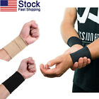 US 1 Pair Unisex Wrist Sleeves Bracers Joint Sprain Protect Sports Outdoor Soft