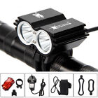 LED Mountain Bike Lights Rechargeable 18650 Bicycle Torch Front & Rear Lamp Set