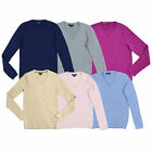 Tommy Hilfiger Womens Sweater Long Sleeve Cable Knit V-neck Pullover Outerwear