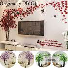 Novel Diy 3d Flower Tree Wall Stickers Home Living Room Sofa Backdrop Art Decor