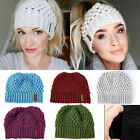 Kyпить Winter Ponytail Beanie Hat Soft Stretch High Messy Knit Womens Ponytail Warm Cap на еВаy.соm