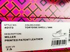 NIB-Tory-Burch-Miller-Sandals-Flip-Flop-Patent-Leather-Tortoise-Shell-7-75-8