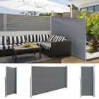 """71""""x118"""" Sunshade Patio Retractable Wall Side Awning Privacy Wind Screen Divider"""
