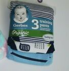 3 pair Gerber Training Pants~Organic Cotton Blend~Baby Soft~Boys ~3T~NEW image