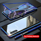 For Samsung Note 10 S10 Plus 5G LUPHIE Metal Magnetic Case Tempered Glass Cover