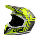 Airoh Wraap Broken Yellow Matt Off Road Enduro MX Motocross Helmet