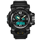 SANDA Men's Military Digital LED Dual Time Analog Shock Quartz Sport Wrist Watch