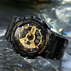 SANDA Men's Military Digital LED Dual Time Analog Shock Quartz Sport Wrist Watch image