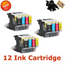 12 Pk LC75 LC71 3 Set Ink Cartridges for Brother MFC-J435W MFC-J625DW MFC-J825D