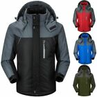 Mens Winter Parka Jacket Outdoor Windproof Waterproof Warm Thick Coat Overcoat